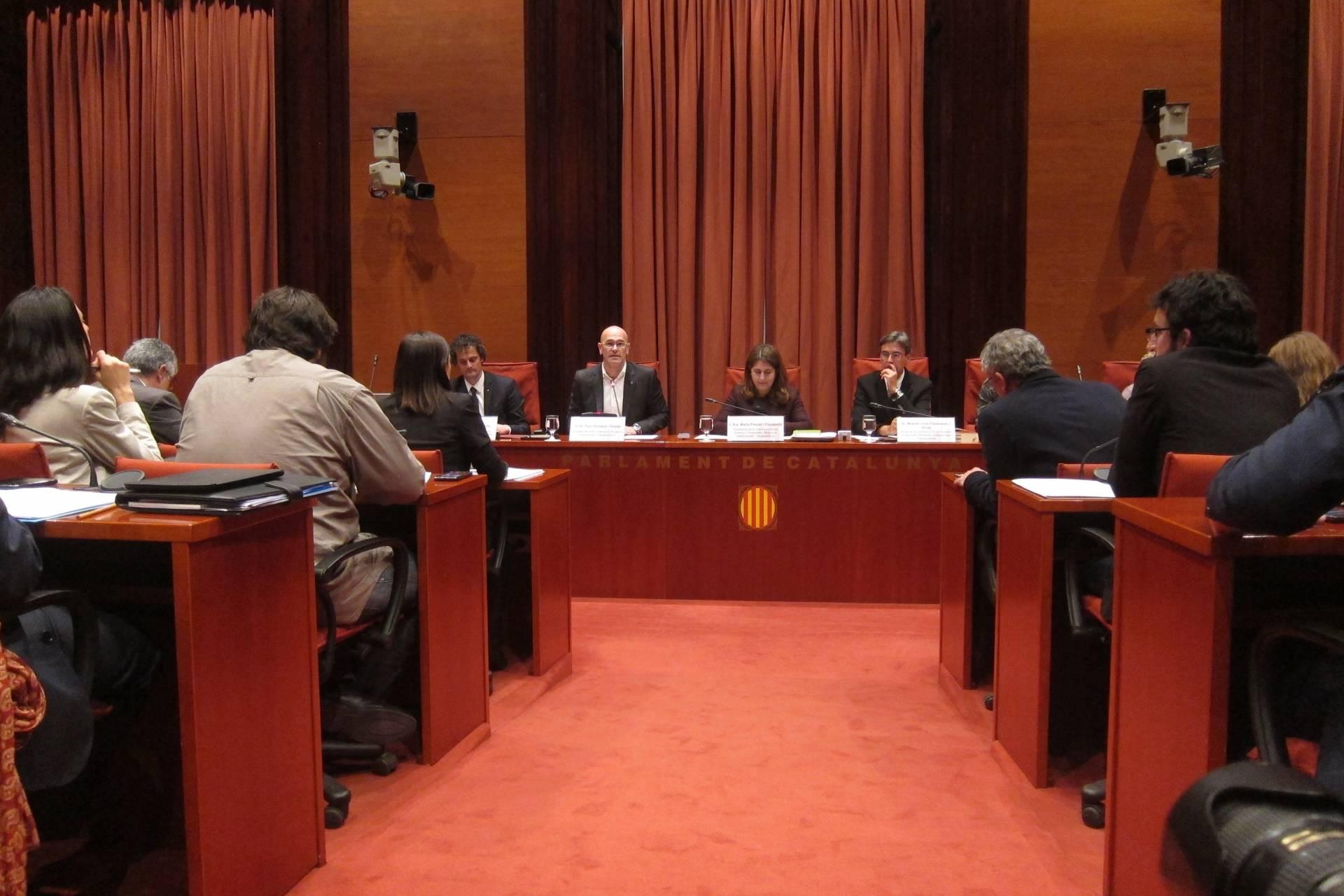 Raül Romeva, en la Comisión de Exteriores.