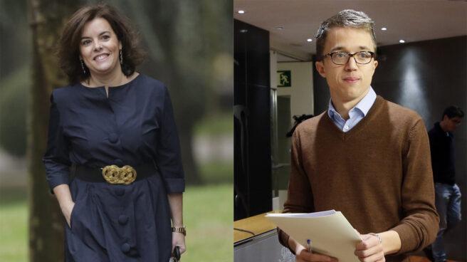 Soraya Sáenz de Santamaría e Íñigo Errejón.