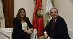 Susana Díaz y Miquel Iceta, durante la reunión de este jueves.
