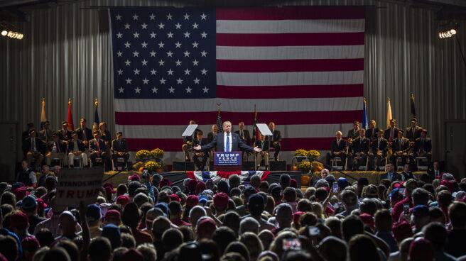 El presidente electo de Estados Unidos, Donald Trump, durante una intervención ante sus seguidores.