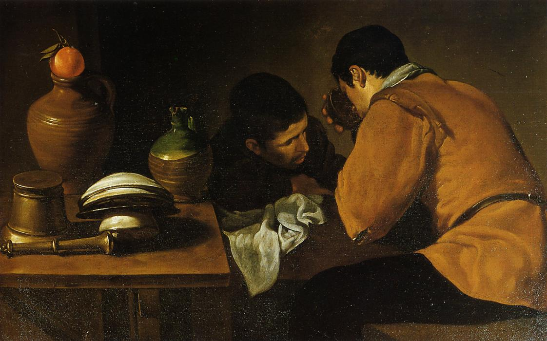Dos jóvenes a la mesa, de Diego Velázquez (Colección Wellington).
