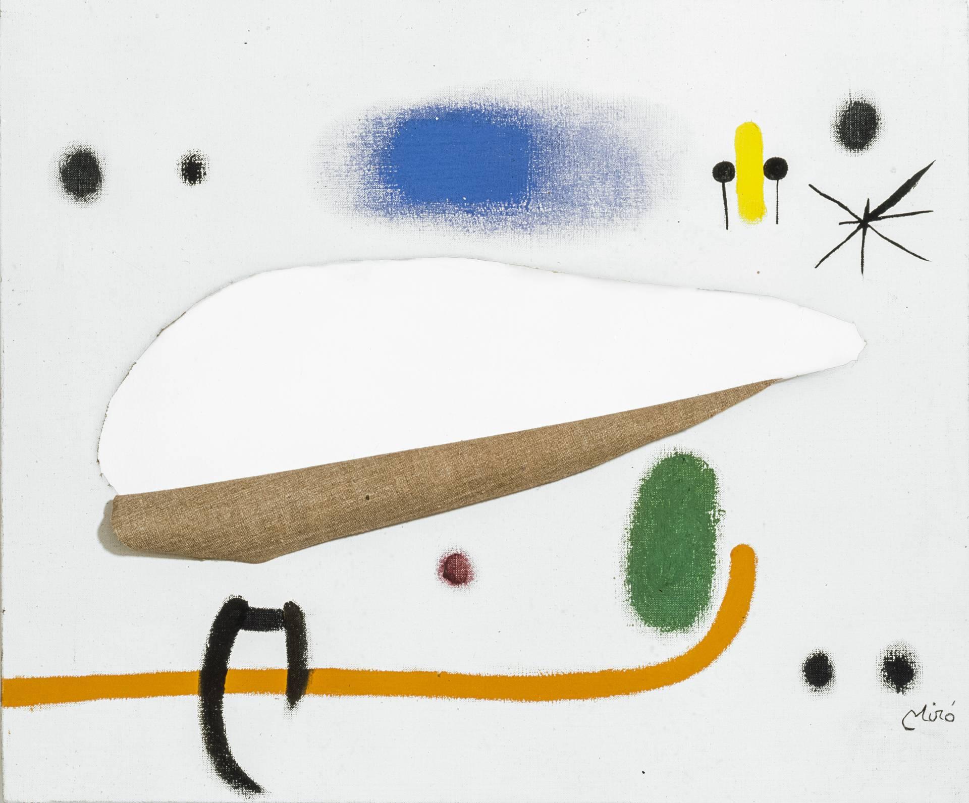 'Pintura' (1975), de Joan Miró. Acrílico sobre tela cortada.
