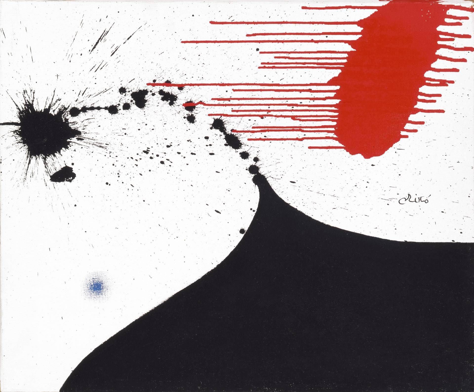 'Mujer' (1974), de Joan Miró. Óleo sobre tela.