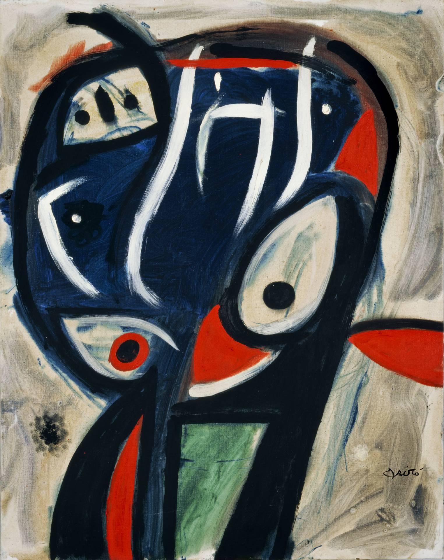 'Cabeza de pájaro' (1977), de Joan Miró. Óleo sobre tela.