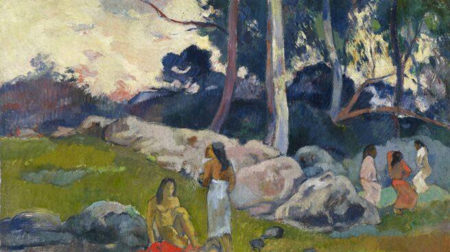 'Mujeres en la ribera del río', de Paul Gauguin (1892). Óleo sobre tela. Colección Alicia Koplowitz - Grupo Omega Capital.