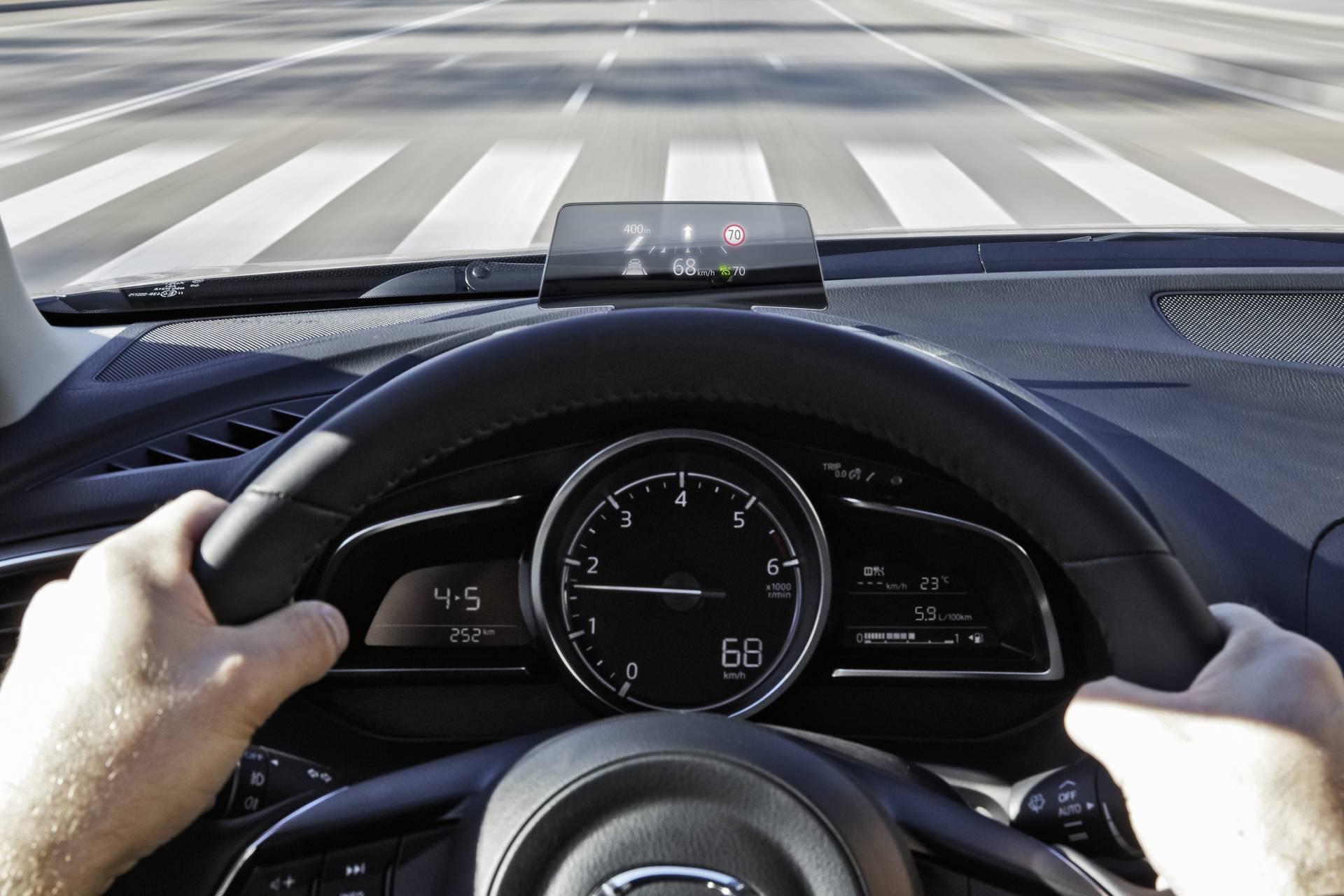 Proyección de datos del nuevo Mazda