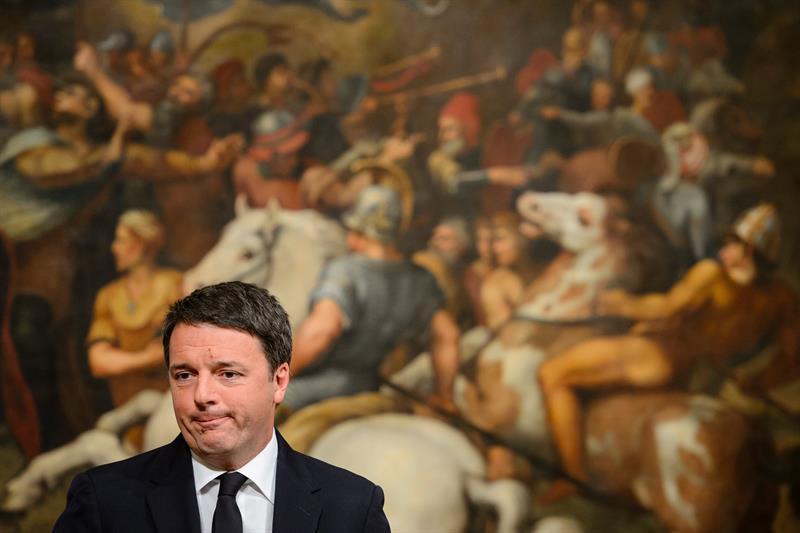 Renzi dimite como primer ministro de Italia