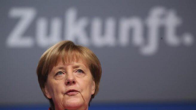 La canciller alemana, Angela Merkel, en el congreso de la CDU alemana, en Essen.