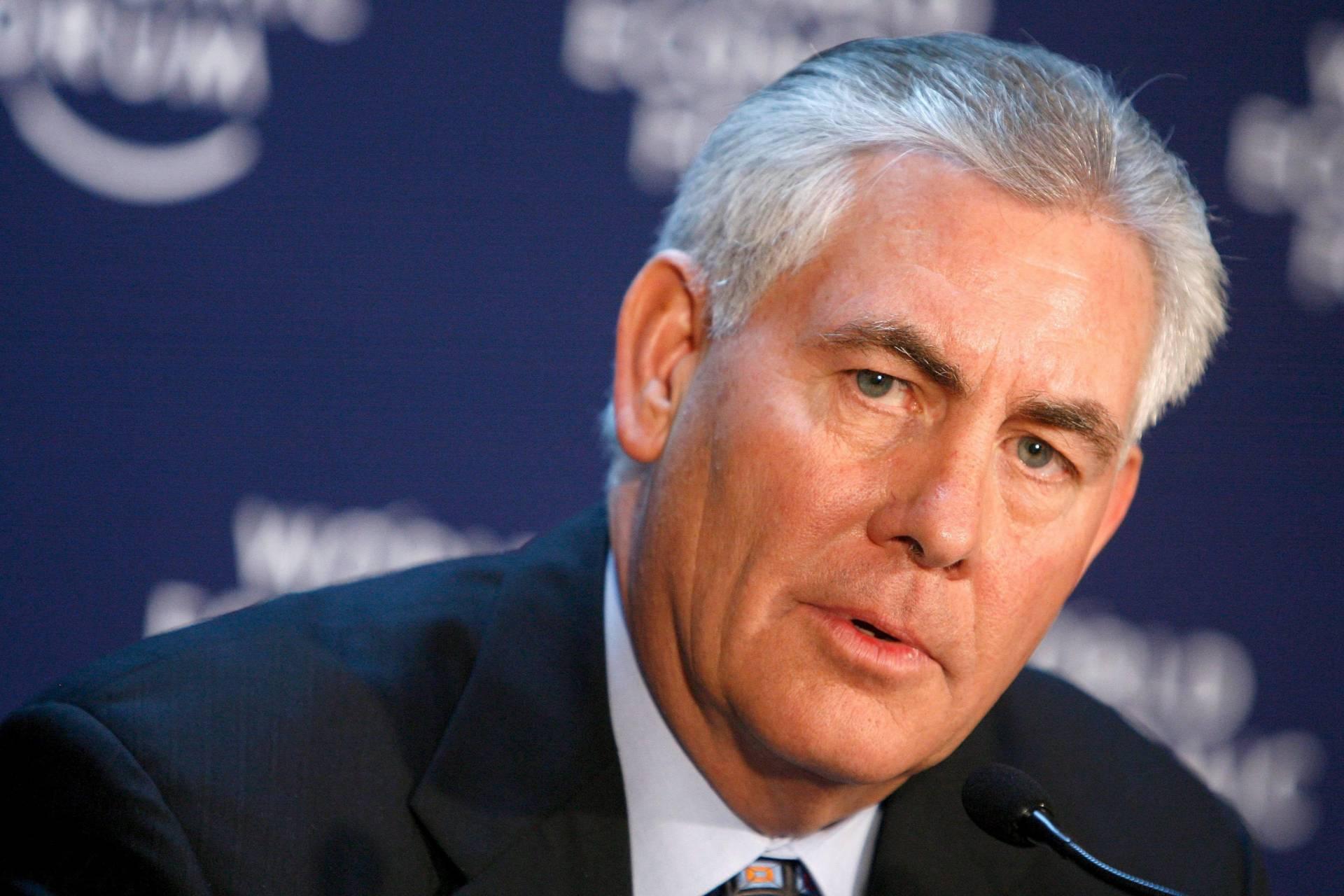 El nuevo secretario de Estado de EEUU Rex Tillerson.