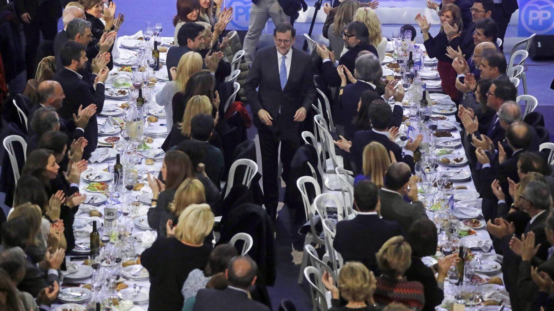 Rajoy, en la cena de Navidad del PP en Torrejon
