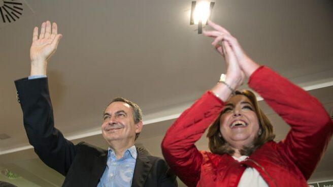 José Luis Rodríguez Zapatero y Susana Díaz, en el acto celebrado este viernes en Jaén.