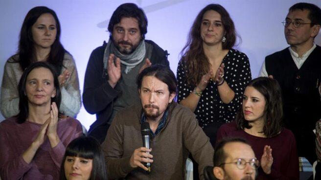 Pablo Iglesias, durante la presentación de su proyecto, Podemos para Todas.
