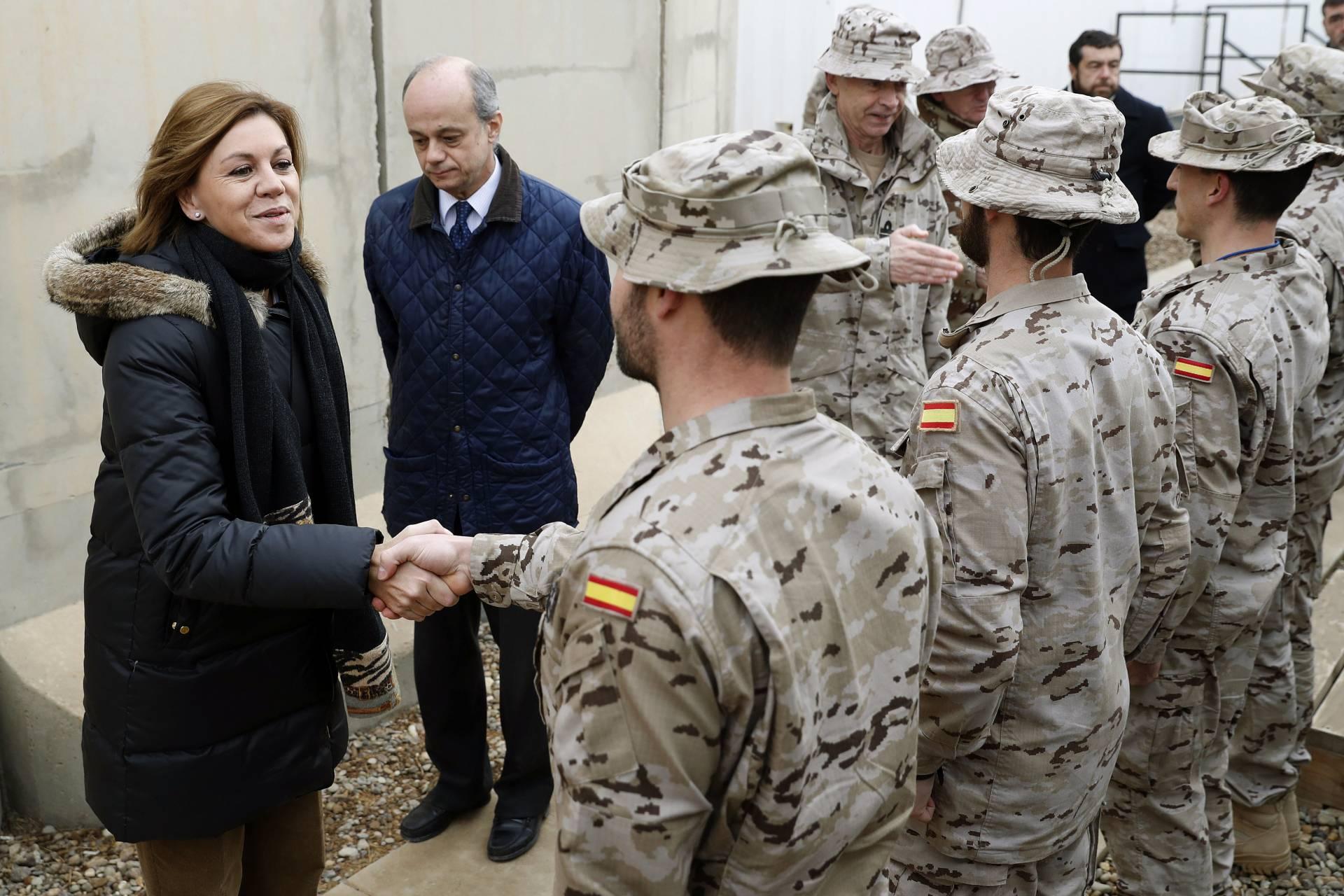 La ministra de Defensa, María Dolores de Cospedal, en su reciente visita a Irak.
