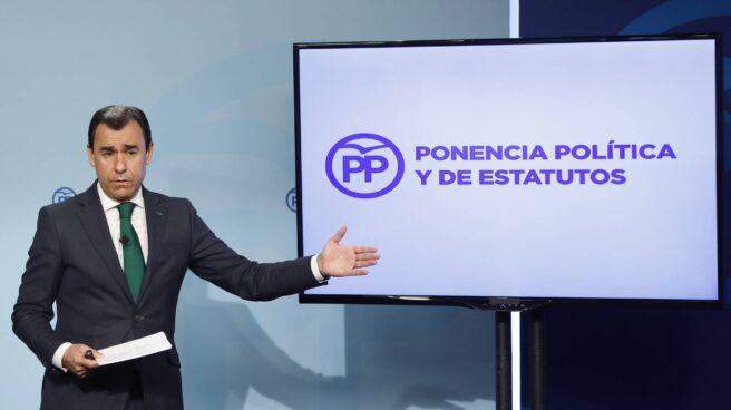 Fernando Martínez-Maillo, este martes en la sede del PP.