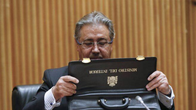 El ministro del Interior, Juan Ignacio Zoido, en una comparecencia en el Congreso de los Diputados.