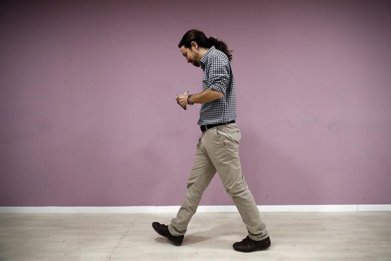 Pablo Iglesias, tras su comparecencia.