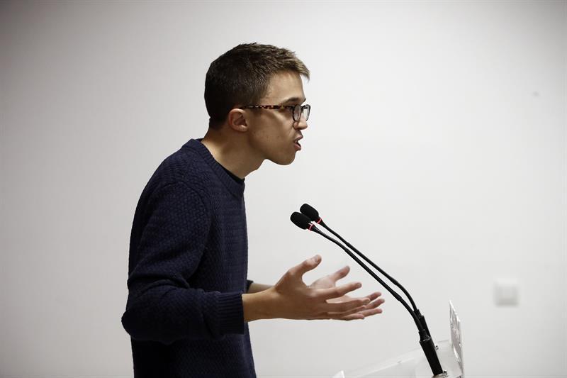 El secretario de organización política de Podemos, Íñigo Errejón, durante una intervención.