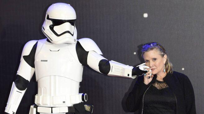 La actriz Carrie Fisher.