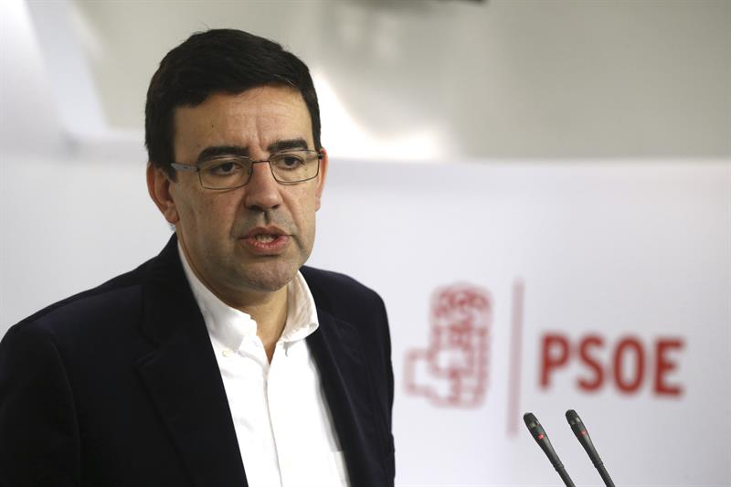 Mario Jiménez, durante su rueda de prensa.