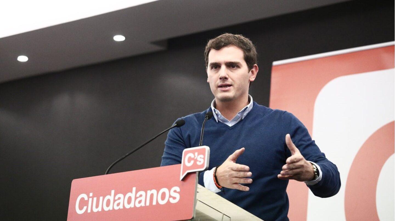 El presidente de Ciudadanos, Albert Rivera, una intervención en el Consejo General del partido.