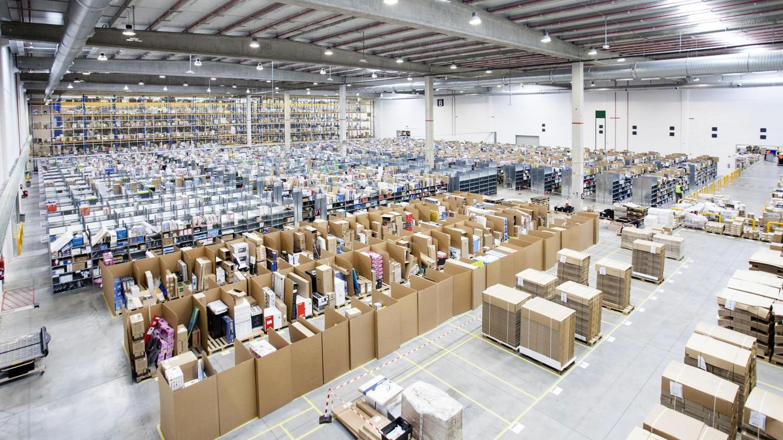 El centro logístico de Amazon en la localidad madrileña de San Fernando de Henares.