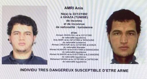 Ficha de búsqueda del sospechoso Anis Amri.
