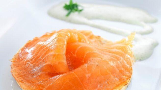 Blini de salmón ahumado