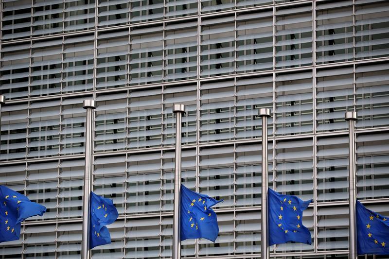 Vista exterior de la sede de la Comisión Europea, en Bruselas.