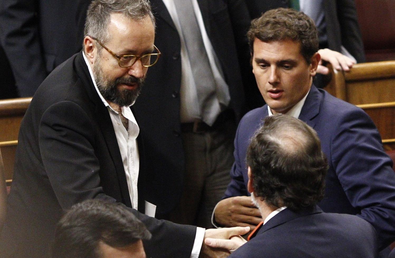 El presidente del Ciudadanos, Albert Rivera, frente al presidente del Gobierno, Mariano Rajoy.