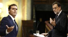 El presidente de Ciudadanos, Albert Rivera, y el presidente del Gobierno, Mariano Rajoy.