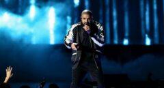 El rapero canadiense Drake, durante una actuación en directo.