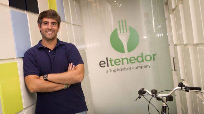El fundador de El Tenedor, Marcos Alves, en las oficinas de la compañía.