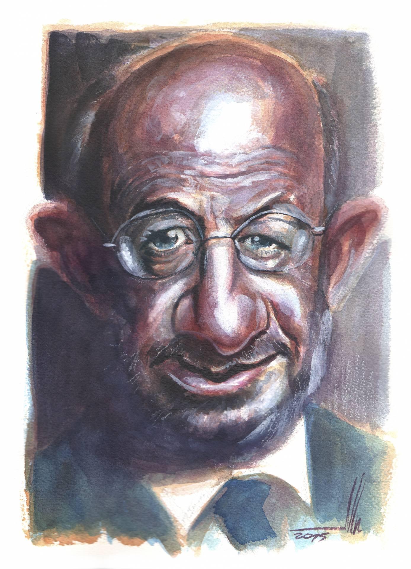 Emilio Saracho. Ilustración cedida por Juan Carlos Abraldes.