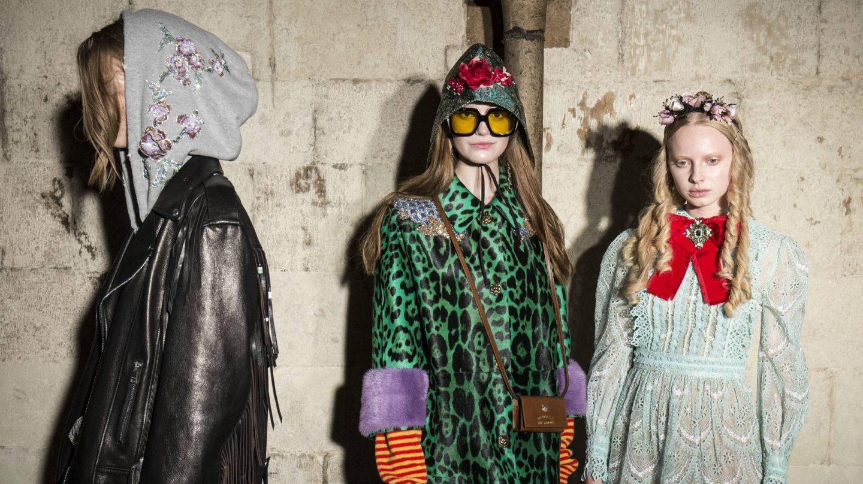 Las capuchas de las sudaderas de Gucci están delicadamente bordadas.