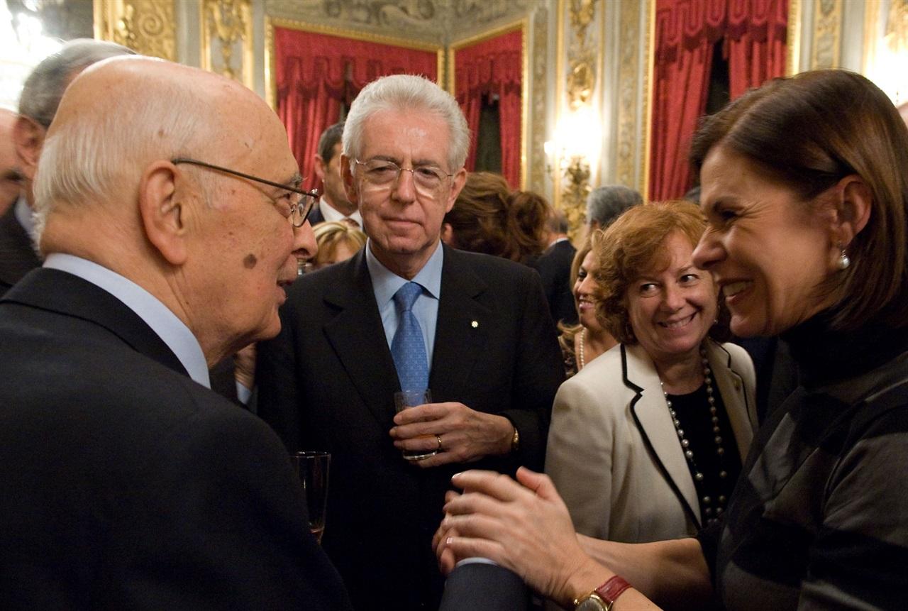 Mario Monti y Giorgio Napolitano durante un encuentro