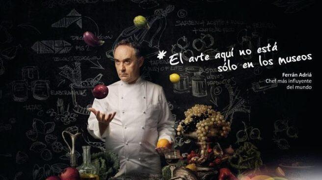 Imagen promocional de elBulli, con Ferrán Adriá.