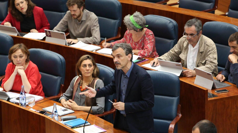 José Manuel López, en la asamblea de Madrid.