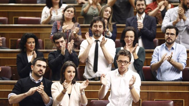 El grupo de Podemos en el Congreso