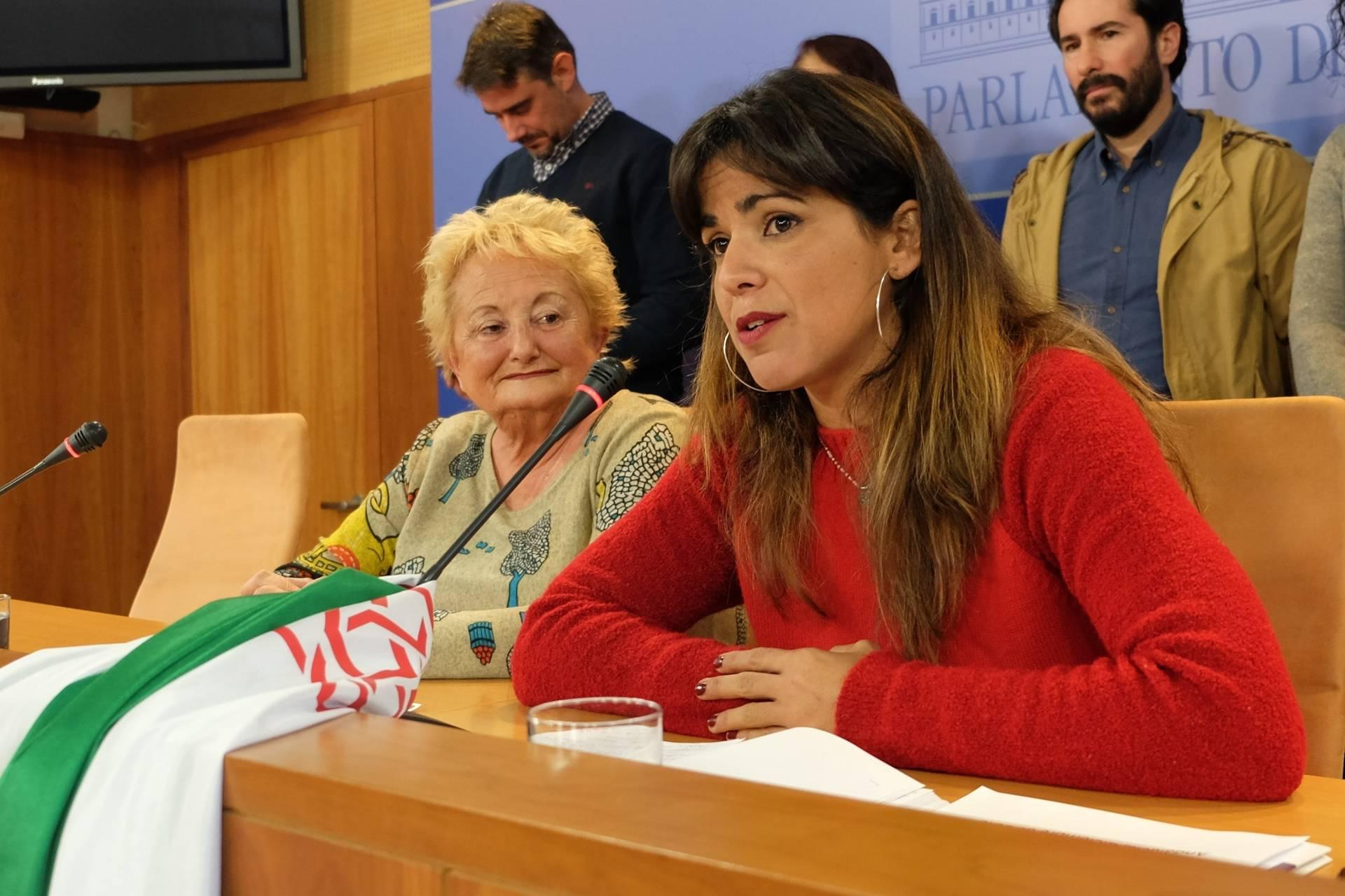 La secretaria general de Podemos en Andalucía y cabeza visible de la rama Anticapitalista, Teresa Rodríguez.