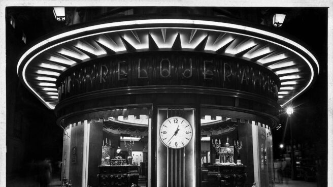 Una foto de la joyería Grassy en Gran Vía 1 de 1953.