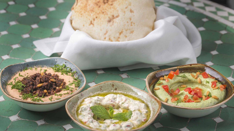El refrescante hummus con sabor a albahaca de Du Liban.