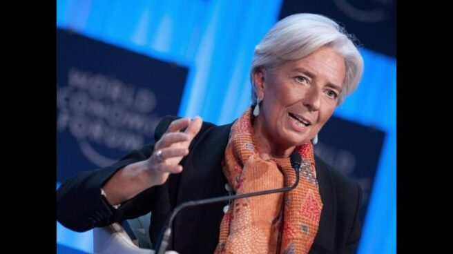 La directora gerente, Christine Lagarde, durante una intervención en Davos, Suiza.