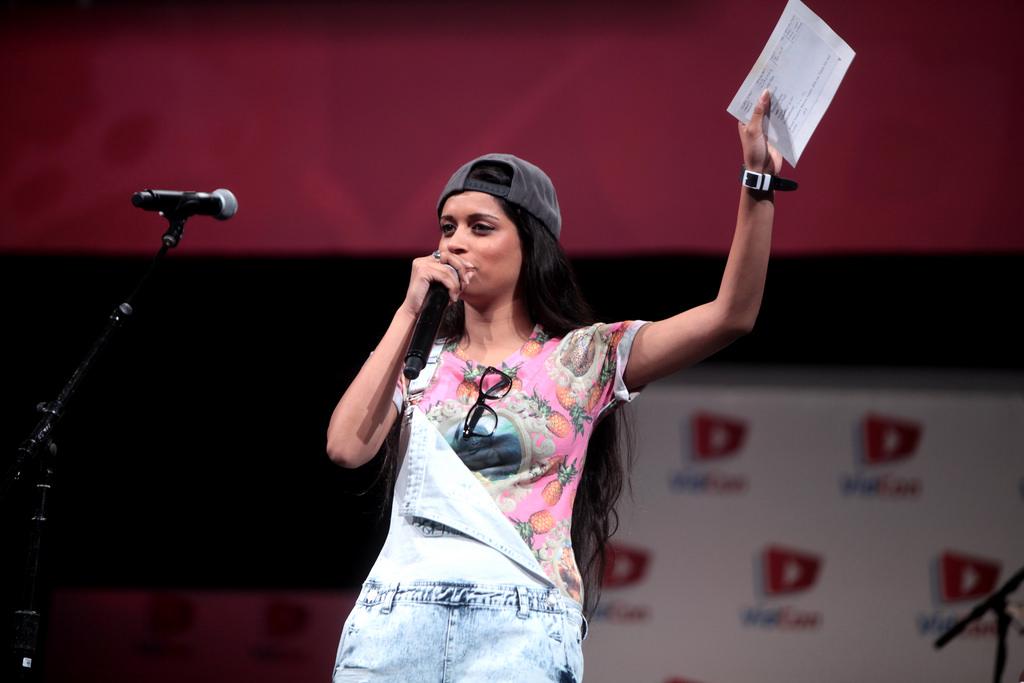 La youtuber Lilly Singh, durante una intervención en una conferencia en California.
