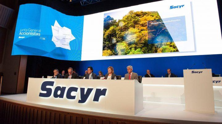 Junta General de Accionistas de Sacyr, en junio de 2016.