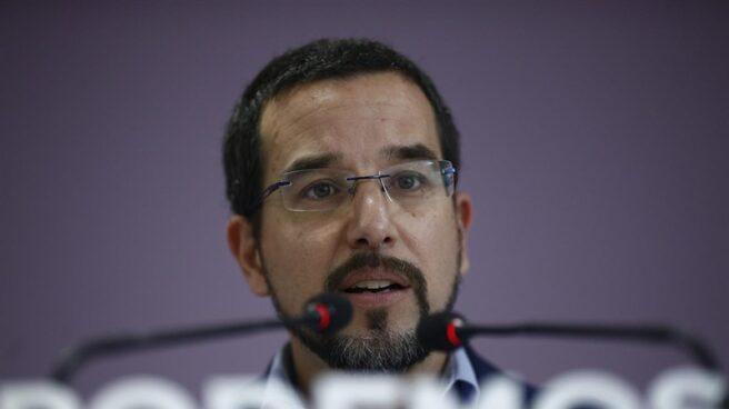 El ex número tres de Podemos, Sergio Pascual, durante una comparecencia pública.