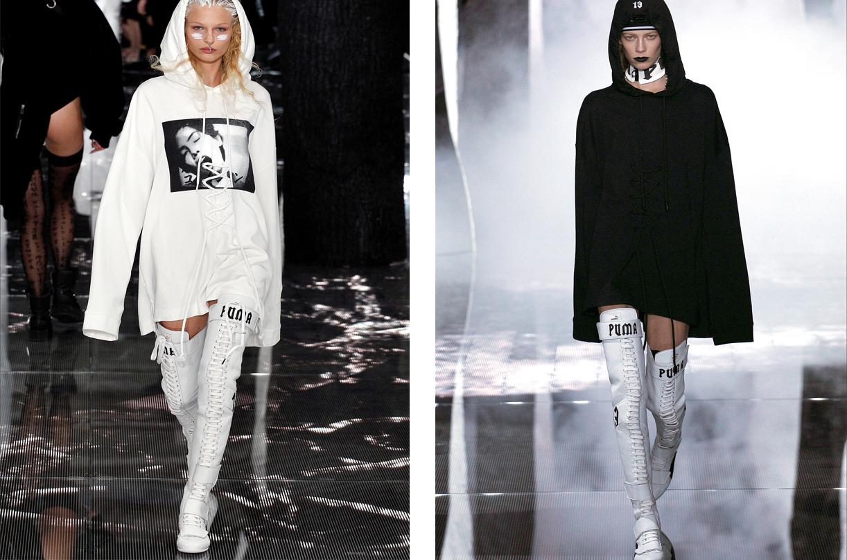 Rihanna ha elaborado una serie de prendas súper femeninas pero sin perder el lado más casual.