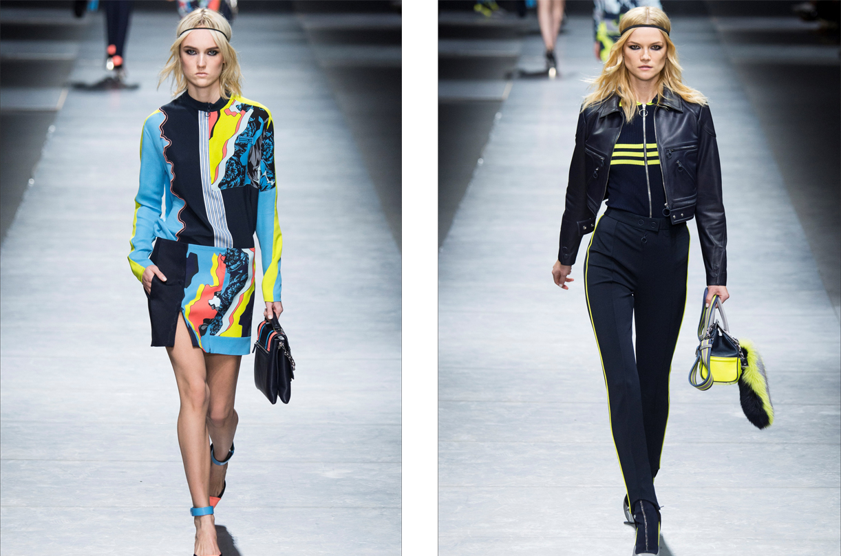 Versace presenta una colección llena de prendas deportivas pero sexies.
