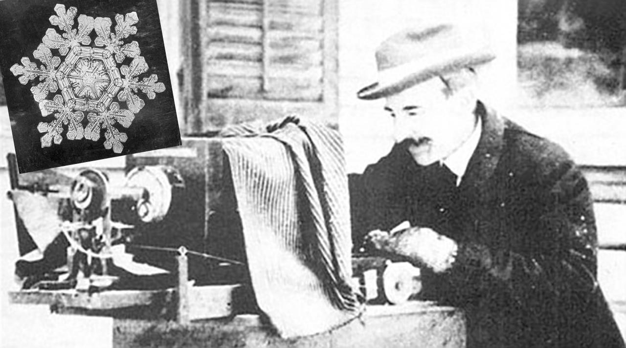 Wilson Bentley, el primer hombre que fotografió un cristal de nieve.