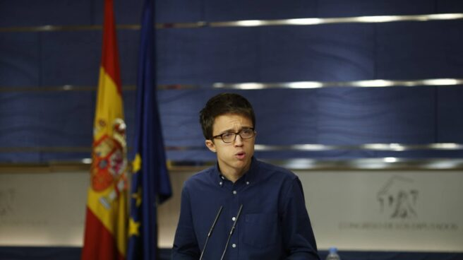 Iñigo Errejón, en la sala de prensa del Congreso.