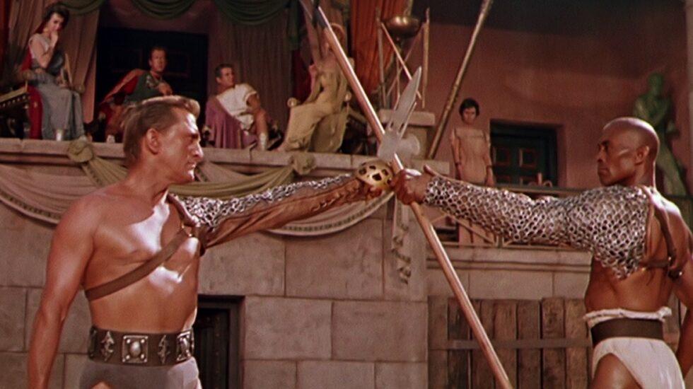 Kirk Douglas en una escena de Espartaco.